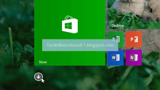 Cara Menambah Tile dan Menghilangkan Tile pada Start Screen Windows 8.1