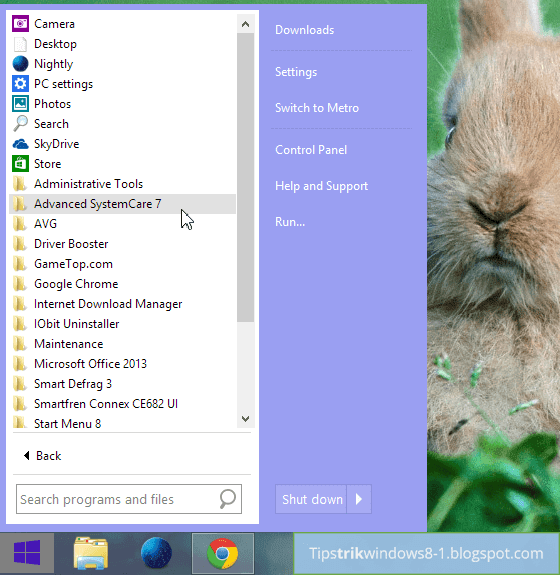 All Programs di Start Menu 8