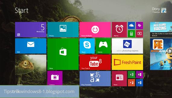Cara Reset Tampilan Start Screen di Windows 8.1