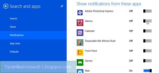 mengubah aplikasi di windows 8.1 -- cara mengatur dan menghilangkan notifikasi di windows 8.1