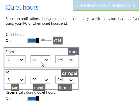 quiet hours di windows 8.1 -- cara mengatur dan menghilangkan notifikasi di windows 8.1