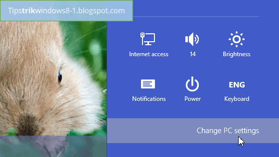 change pc settings untuk menghilangkan/disable charms bar di windows 8.1