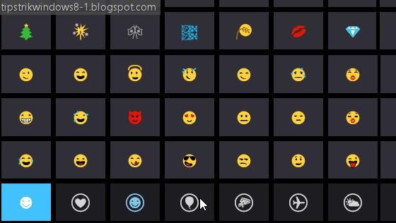 emoji windows 8.1
