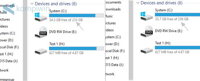 berhasil menambah kapasitas hard disk