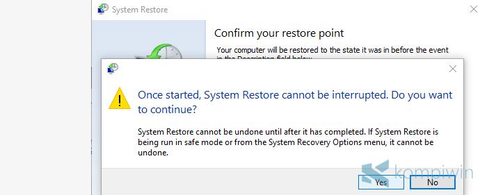 kembalikan laptop ke awal