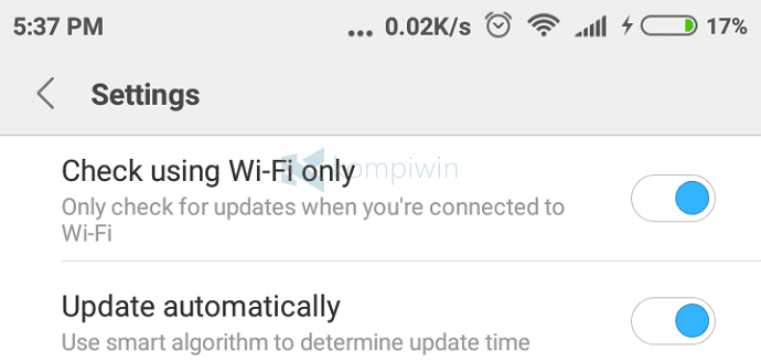 update otomatis
