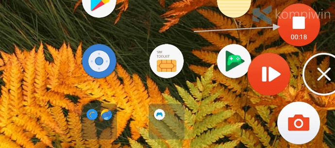 merekam layar android