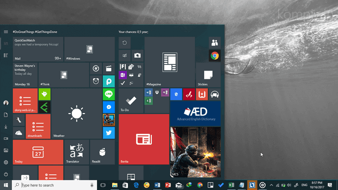 start menu kelebihan windows 10
