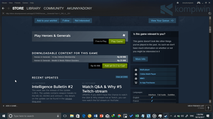 steam tempat download game pc