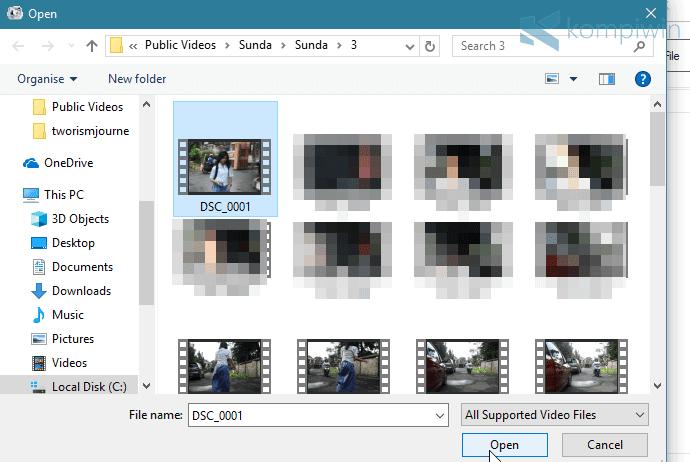 cara format video
