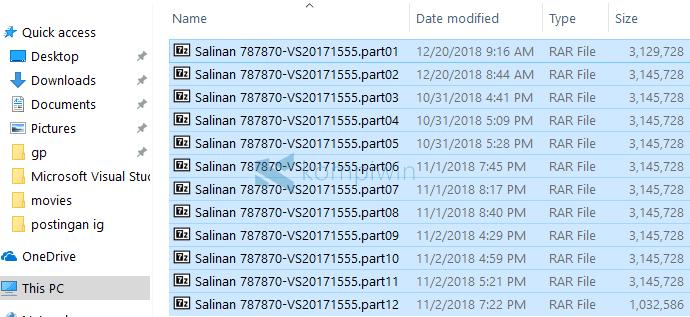menggabungkan file part