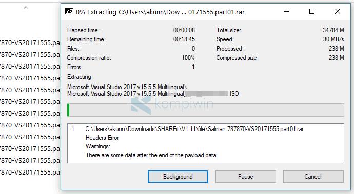 Cara Ekstrak File Part (.part01) Agar Menjadi 1 Folder 3