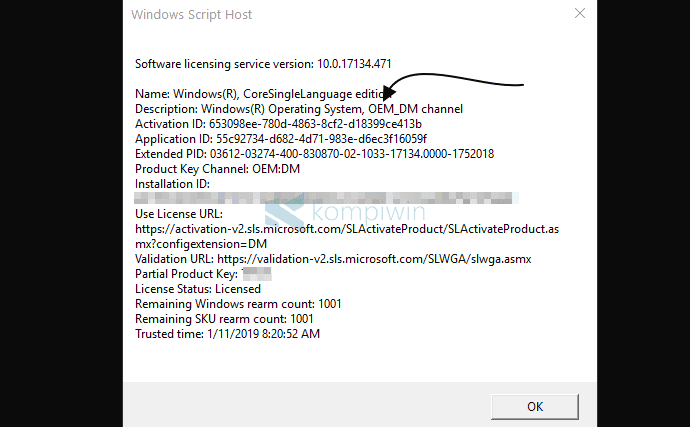 Cara Mengecek Jenis Lisensi Windows 10 (RTM, OEM, VOLUME) 2