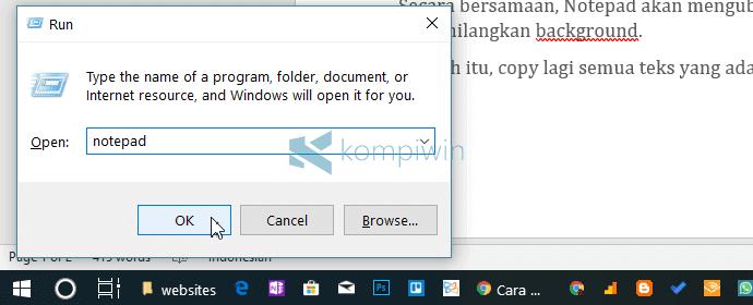 cara menghilangkan tulisan hasil copy paste