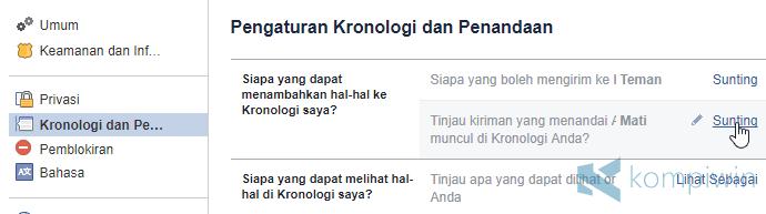 cara agar teman tidak tag facebook kita