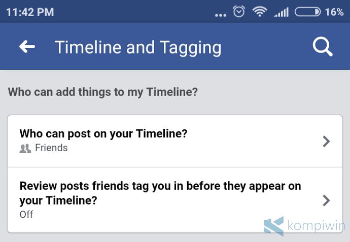 cara agar teman facebook tidak asal tag