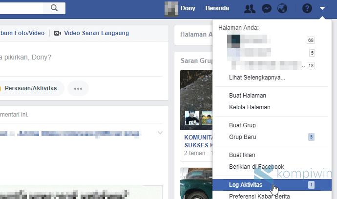 hapus seluruh history pencarian facebook