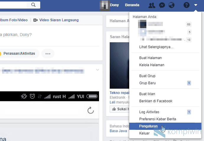 cara mematikan video autoplay facebook