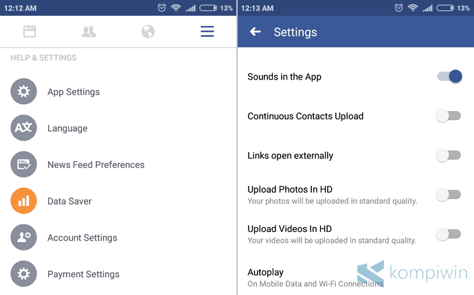 video autoplay facebook android