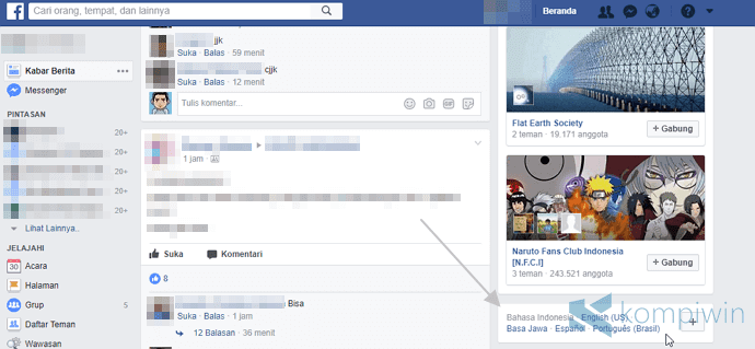 bahasa facebook sunda