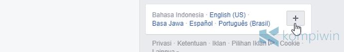 ubah bahasa facebook