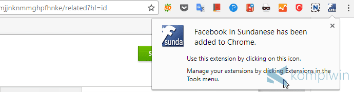 facebook ganti bahasa sunda