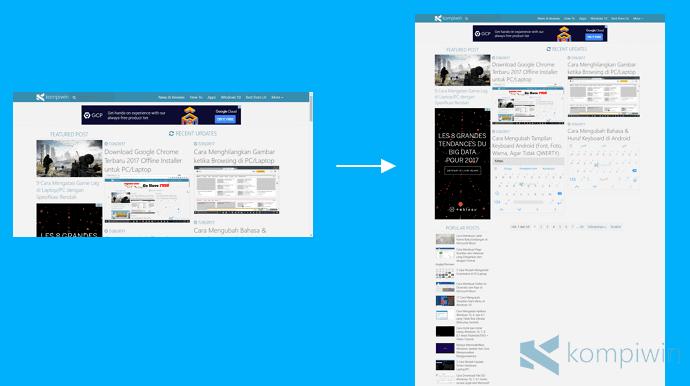 cara mengambil screenshot halaman web full