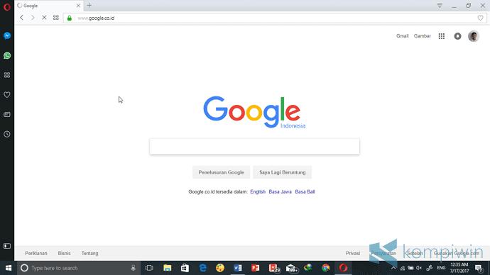 opera browser terbaik cepat di laptop