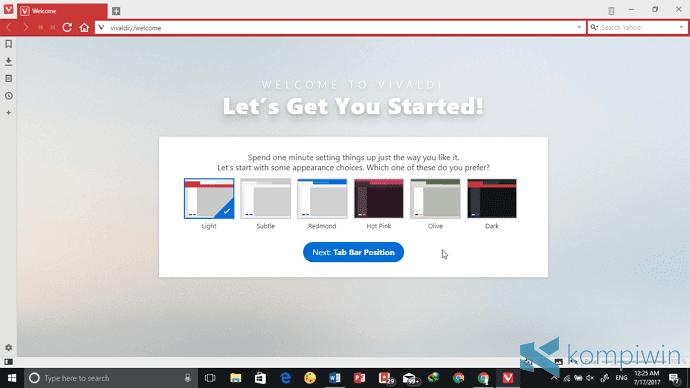 vivaldi browser terbaik 2017