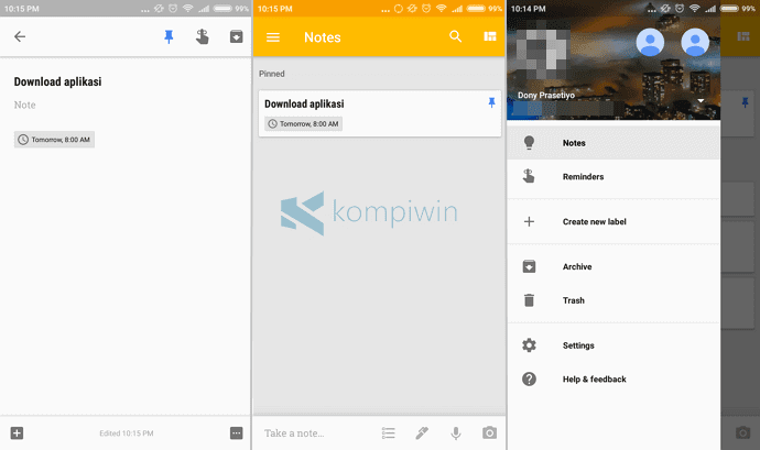 google keep aplikasi catatan terbaik android
