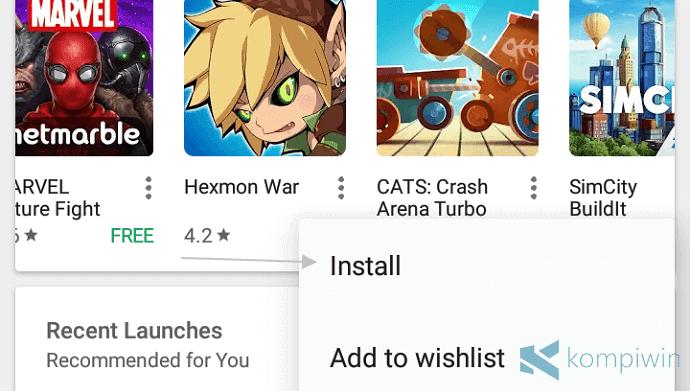 cara install aplikasi dari google play