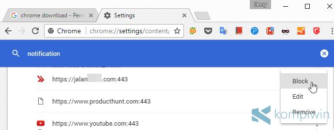 notifikasi website